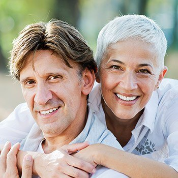 Metairie Restorative Dentistry elderly couple with radiant smiles