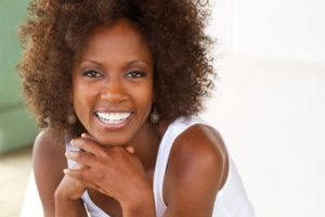 woman smiling oral health
